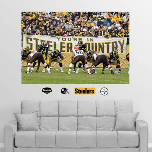"""Fathead Pittsburgh Steelers """"You're in Steelers Country"""" Wall Graphic product image"""