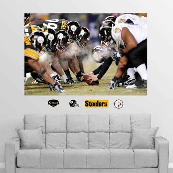 Fathead Pittsburgh Steelers/Baltimore Ravens Line of Scrimmage Wall Graphic product image
