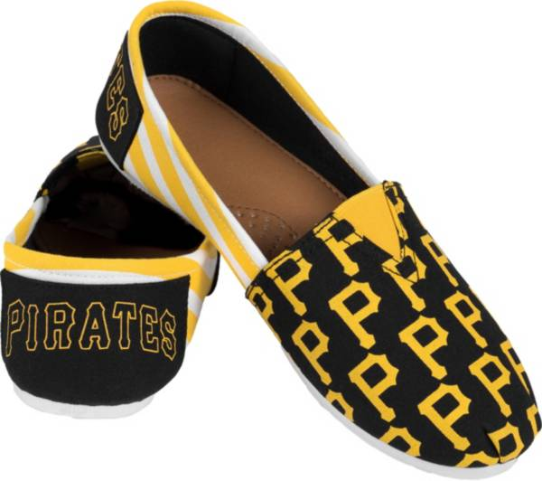 FOCO Women's Pittsburgh Pirates Stripe Canvas Shoes product image