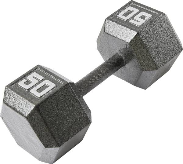 Fitness Gear 50 lb Cast Hex Dumbbell product image
