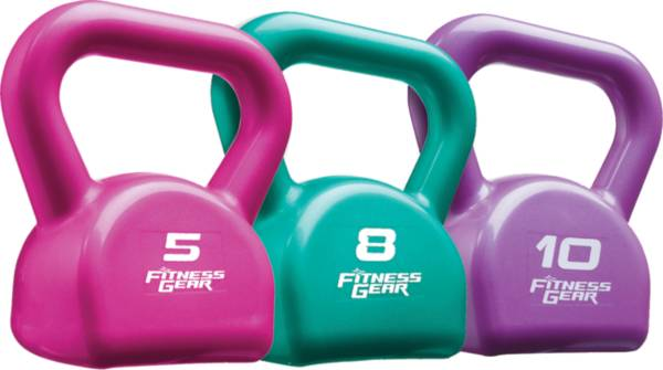 Fitness Gear 23 lbs. PVC Kettlebell Set product image