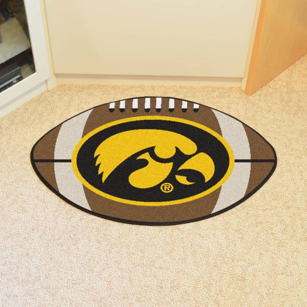 FANMATS Iowa Hawkeyes Football Mat product image