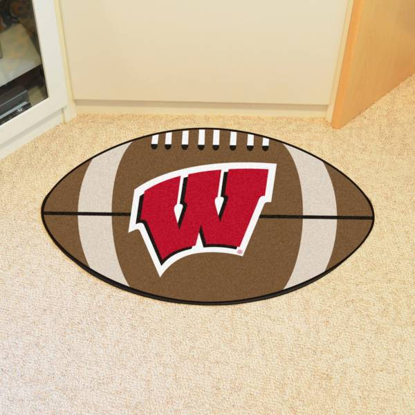 FANMATS Wisconsin Badgers Football Mat product image