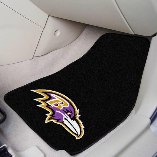 Baltimore Ravens 2-Piece Printed Carpet Car Mat Set product image