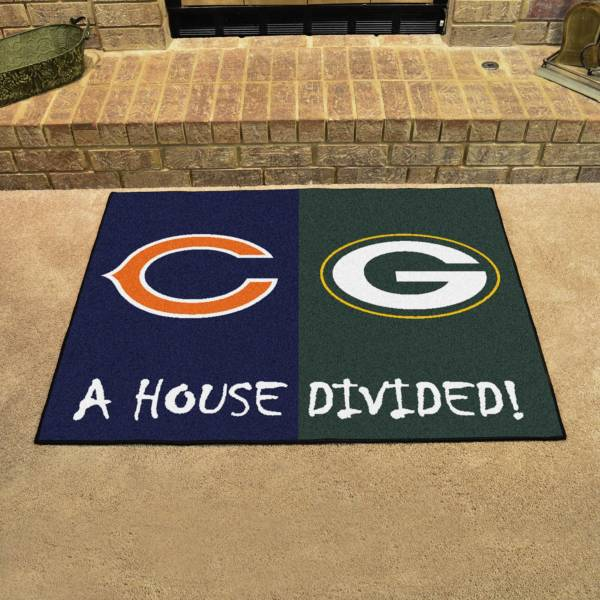 FANMATS Chicago Bears-Green Bay Packers House Divided Mat product image
