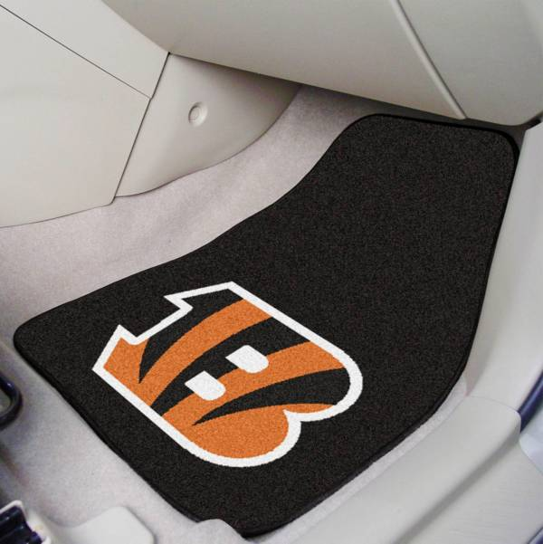FANMATS Cincinnati Bengals 2-Piece Printed Carpet Car Mat Set product image
