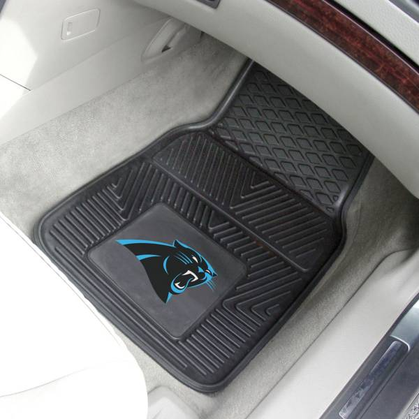 Carolina Panthers 2-Piece Heavy Duty Vinyl Car Mat Set product image