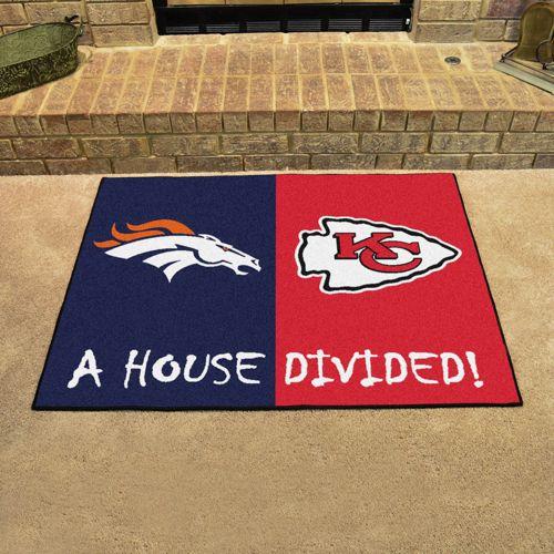 e520c5884 FANMATS Denver Broncos-Kansas City Chiefs House Divided Mat | DICK'S ...