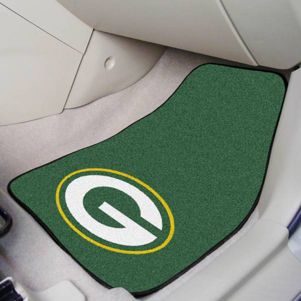 FANMATS Green Bay Packers 2-Piece Printed Carpet Car Mat Set product image