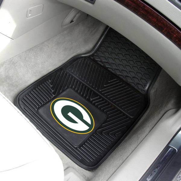 Green Bay Packers 2-Piece Heavy Duty Vinyl Car Mat Set product image