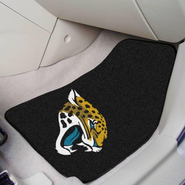 FANMATS Jacksonville Jaguars 2-Piece Printed Carpet Car Mat Set product image