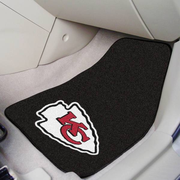 FANMATS Kansas City Chiefs 2-Piece Printed Carpet Car Mat Set product image