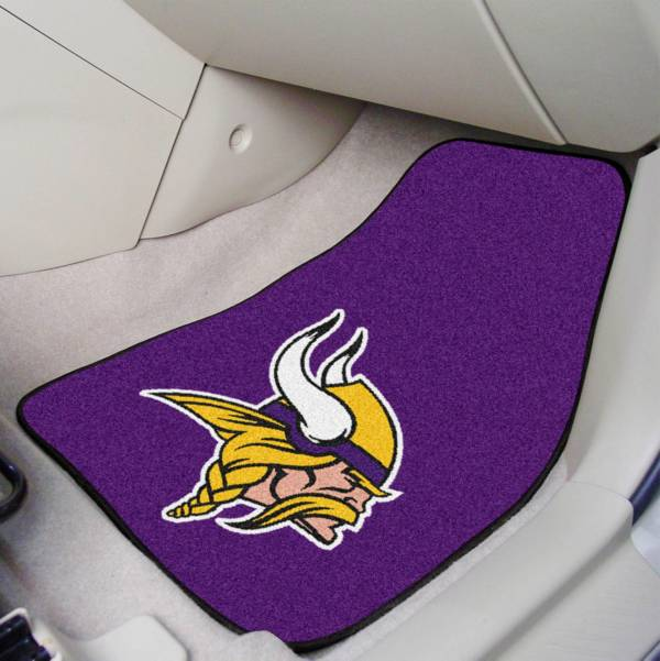 Minnesota Vikings 2-Piece Printed Carpet Car Mat Set product image