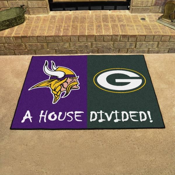 FANMATS Minnesota Vikings-Green Bay Packers House Divided Mat product image