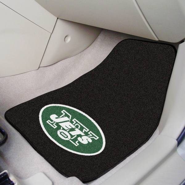 FANMATS New York Jets 2-Piece Printed Carpet Car Mat Set product image