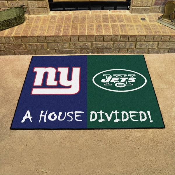FANMATS New York Giants-New York Jets House Divided Mat product image