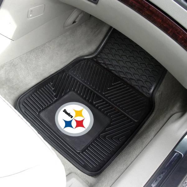 FANMATS Pittsburgh Steelers 2-Piece Heavy Duty Vinyl Car Mat Set product image