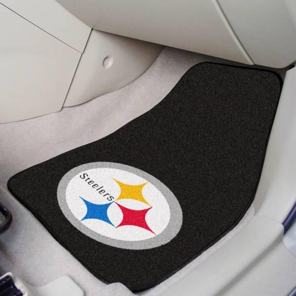 FANMATS Pittsburgh Steelers 2-Piece Printed Carpet Car Mat Set product image