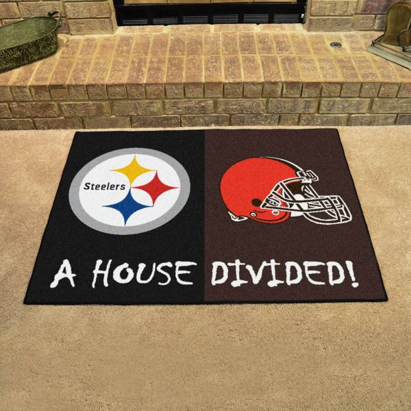 FANMATS Pittsburgh Steelers-Cleveland Browns House Divided Mat product image