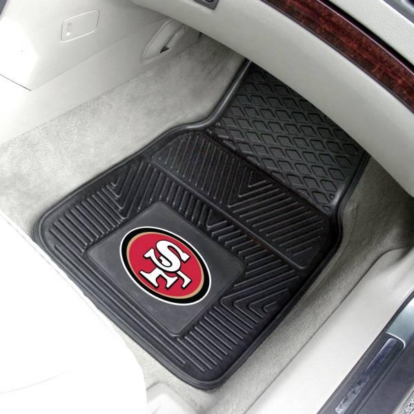 San Francisco 49ers 2-Piece Heavy Duty Vinyl Car Mat Set product image