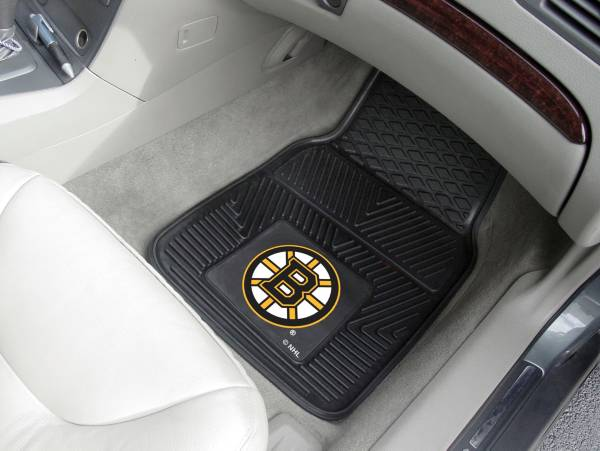 FANMATS Boston Bruins Two Piece Heavy Duty Vinyl Car Mat Set product image