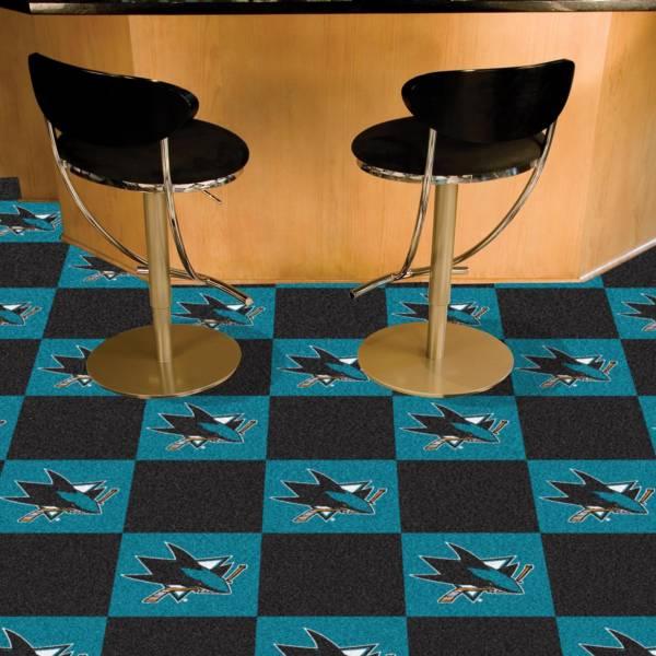 FANMATS San Jose Sharks Carpet Tiles product image