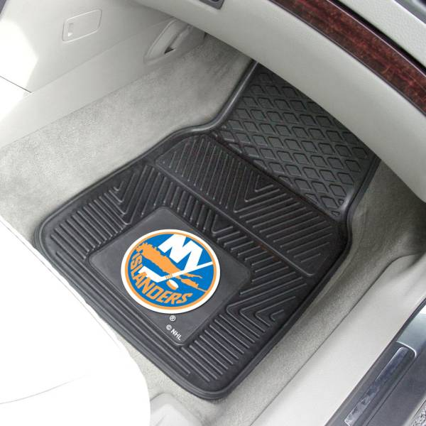 New York Islanders Two Piece Heavy Duty Vinyl Car Mat Set product image