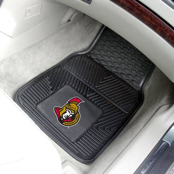 FANMATS Ottawa Senators Two Piece Heavy Duty Vinyl Car Mat Set product image
