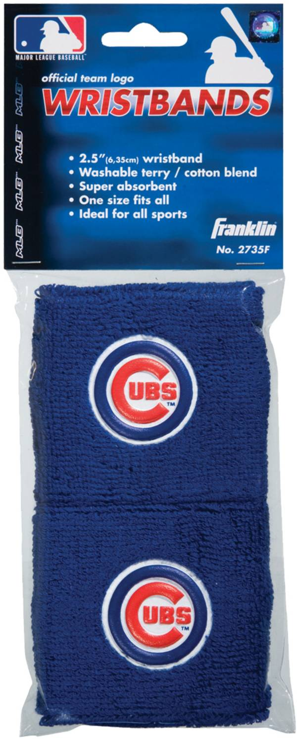 "Franklin Chicago Cubs Royal 2.5"" Wristbands product image"
