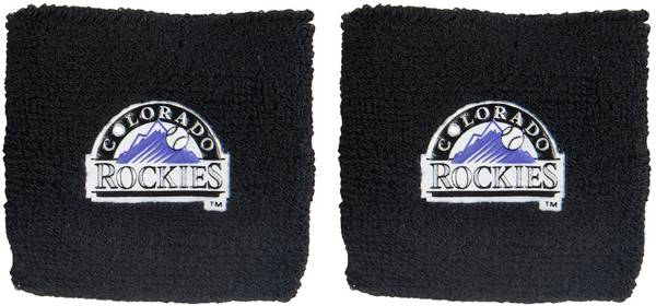 "Franklin Colorado Rockies Black 2.5"" Wristbands product image"