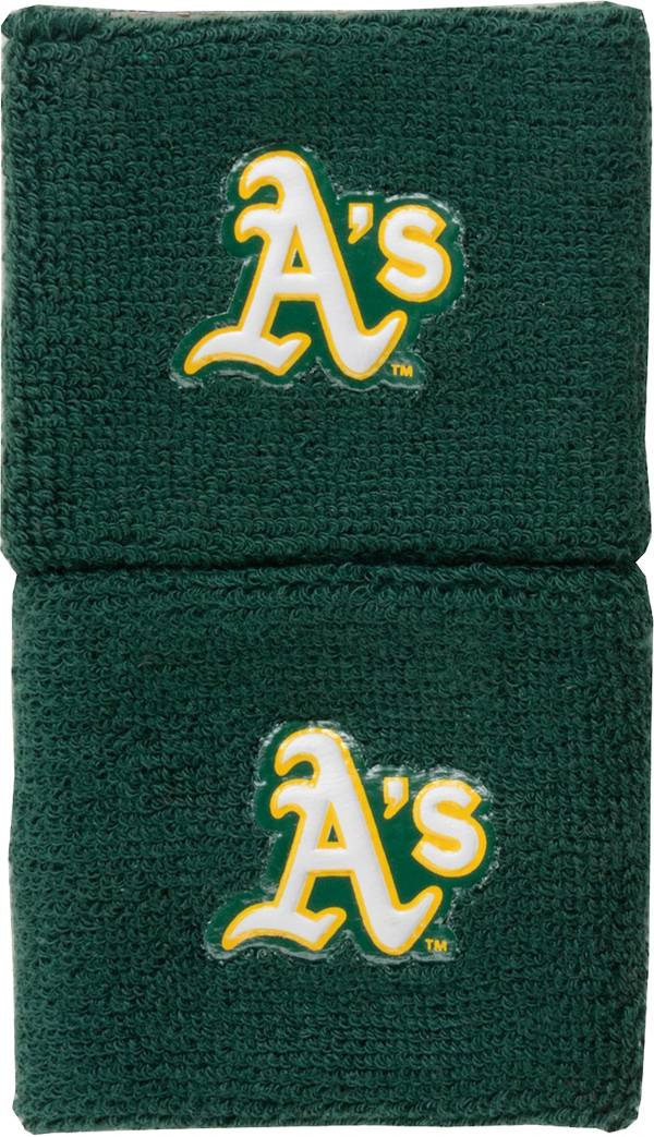 """Franklin Oakland Athletics Green 2.5"""" Wristbands product image"""