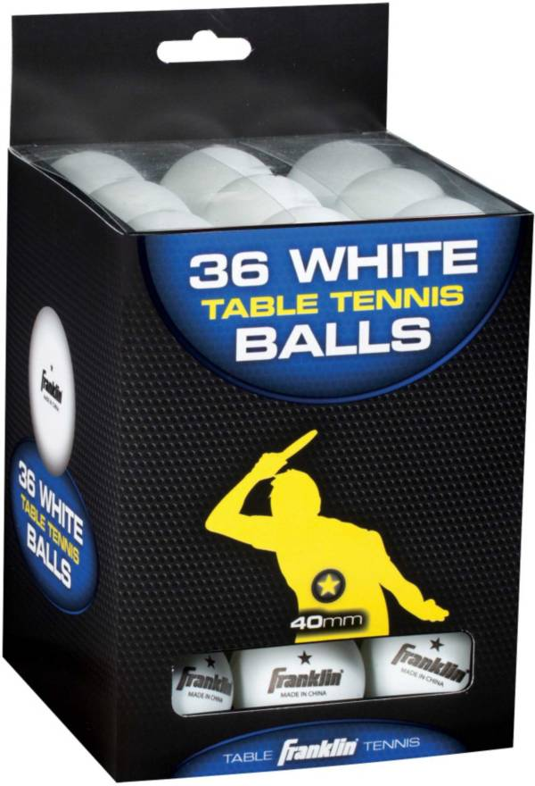 Franklin 40mm One-Star Table Tennis Balls 36 Pack product image