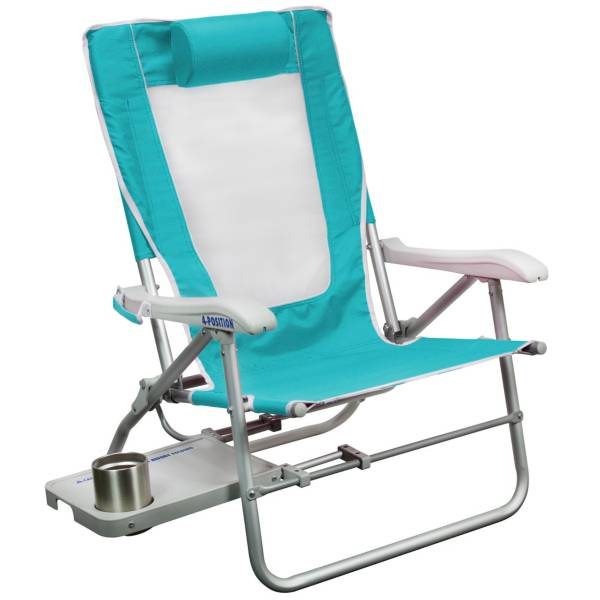 GCI Waterside Big Surf Beach Chair with Slide Table product image