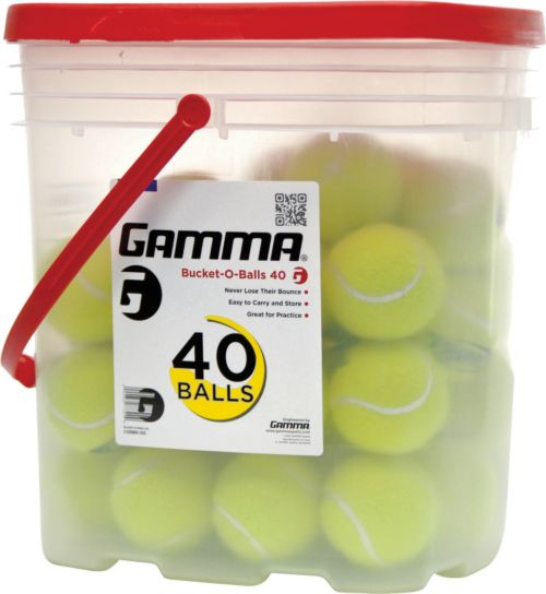 06b9dec29c1 GAMMA Bucket-O-Balls Pressureless Tennis Balls - 40 Ball Pack ...