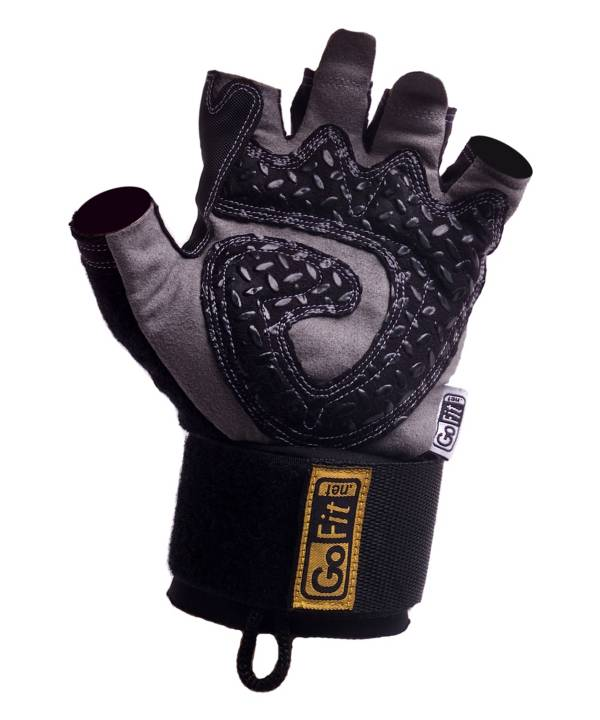 GoFit Diamond-Tac Wrist Wrap Weightlifting Gloves product image