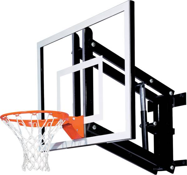 "Goalsetter 54"" Adjustable Glass Backboard and Collegiate Rim product image"