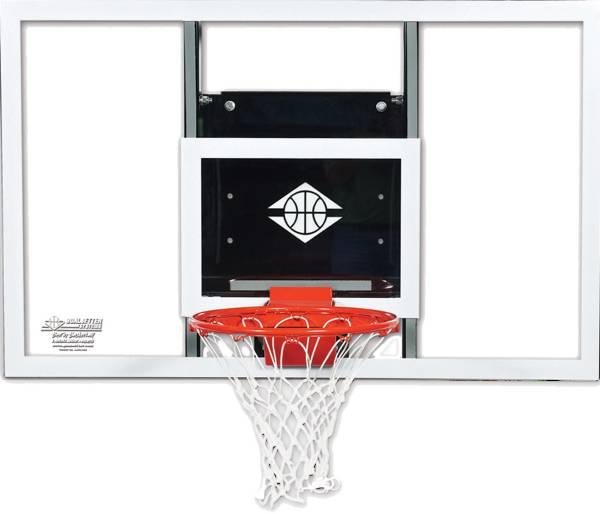"Goalsetter 60"" Fixed Height Baseline Glass Backboard and HD Breakaway Rim product image"