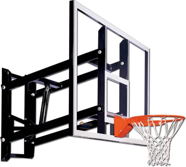 "Goalsetter 72"" Adjustable Glass Backboard and Collegiate Rim product image"