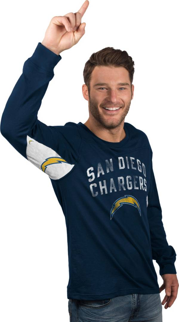 Hands High Men's San Diego Chargers Play Action Navy Long Sleeve Shirt product image