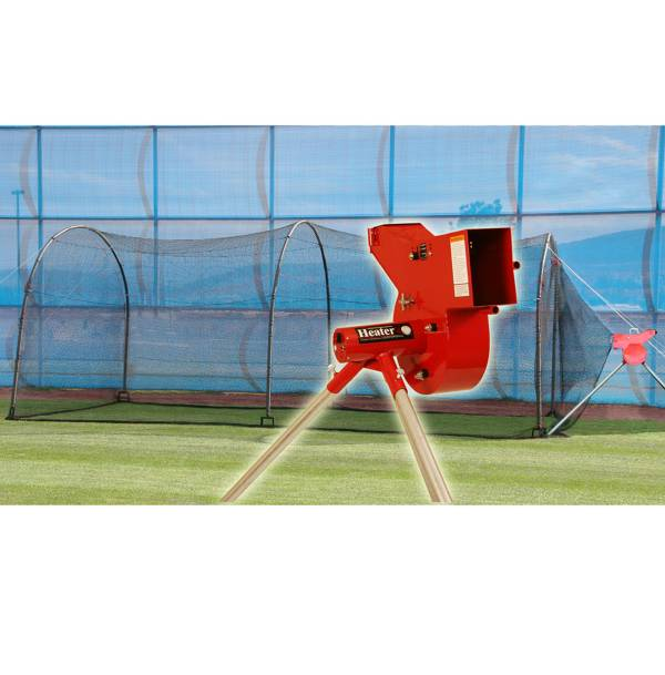 Heater Combo Pitching Machine & Xtender 24' Batting Cage product image