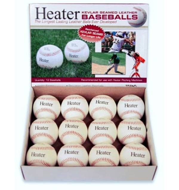 Heater Leather Pitching Machine Baseballs - 12 Pack product image