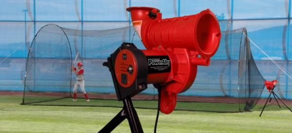 Heater Pro Curve Baseball Pitching Machine & Xtender 24' Batting Cage product image