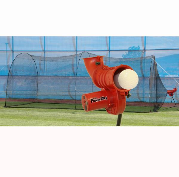 "Heater PowerAlley 11"" Softball Pitching Machine & PowerAlley 22' Batting Cage product image"