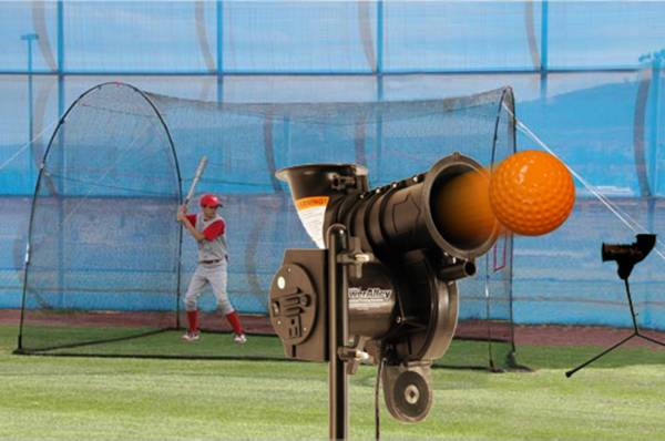 "Heater PowerAlley Lite Pitching Machine & HomeRun 12"" Batting Cage product image"