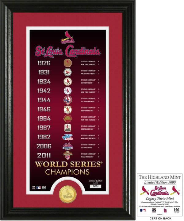 Highland Mint St. Louis Cardinals 'Legacy' Supreme Bronze Coin Photo Mint product image