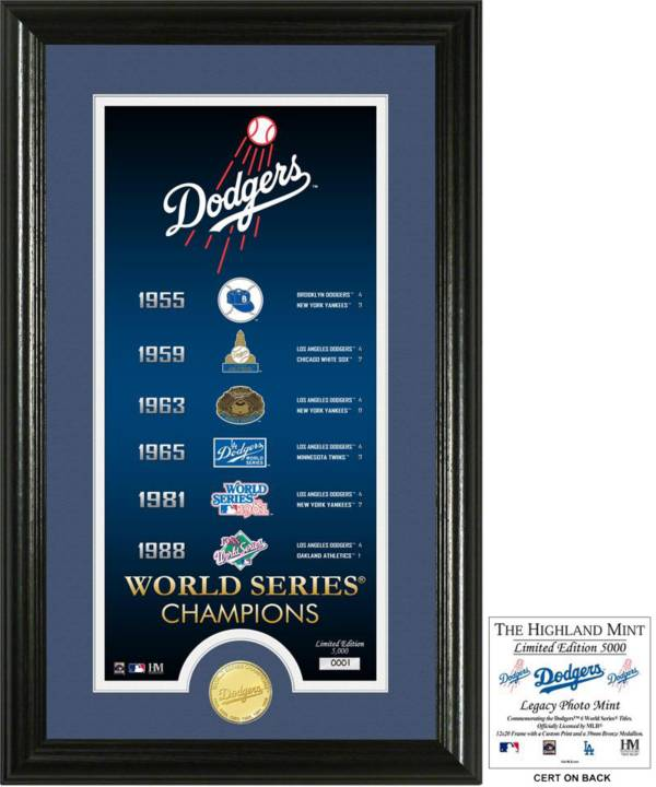 Highland Mint Los Angeles Dodgers 'Legacy' Supreme Bronze Coin Photo Mint product image