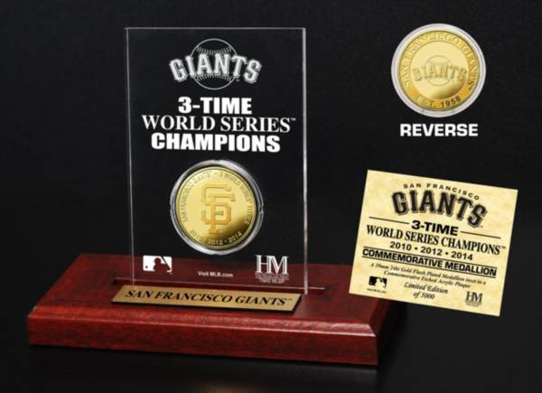 Highland Mint San Francisco Giants World Series Championship Gold Coin Etched Acrylic product image