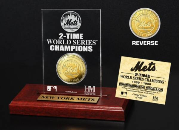 Highland Mint New York Mets World Series Championship Gold Coin Etched Acrylic product image