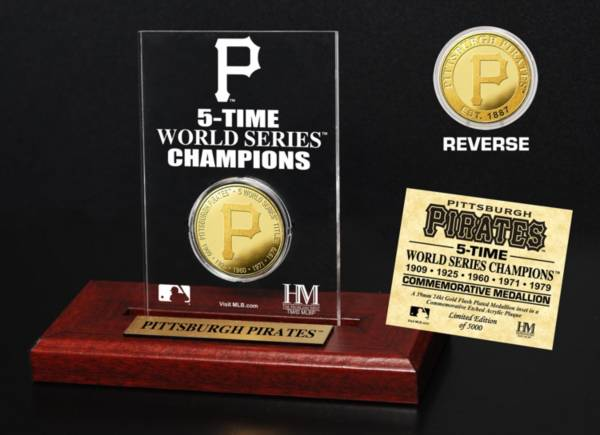 Highland Mint Pittsburgh Pirates World Series Championship Gold Coin Etched Acrylic product image