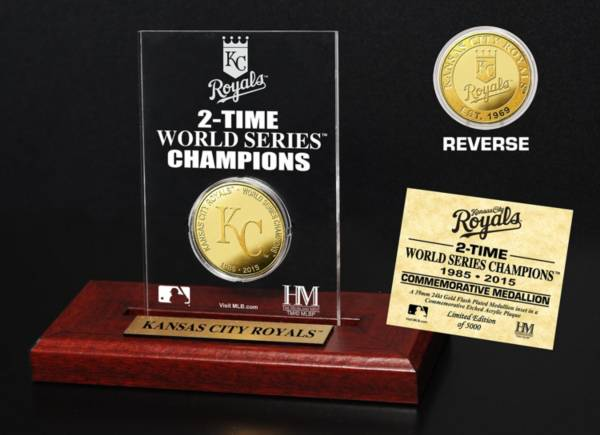Highland Mint Kansas City Royals World Series Championship Gold Coin Etched Acrylic product image